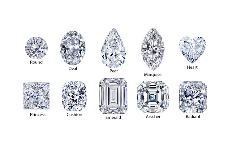 Diamond Shapes For Engagement Rings Dallas 2, Shira Diamonds
