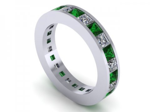 Emerald Eternity Band Dallas 1 1, Shira Diamonds