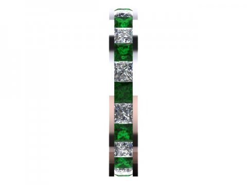 Emerald Eternity Band Dallas 2 1, Shira Diamonds