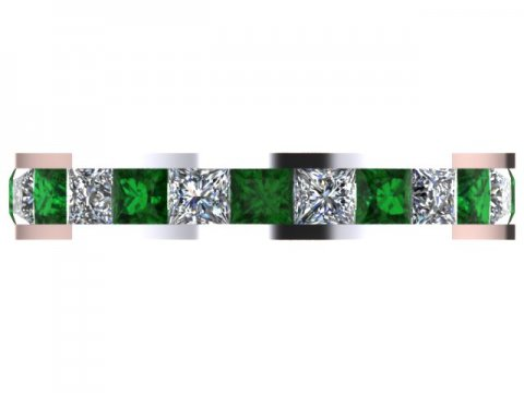 Emerald Eternity Band Dallas 4 1, Shira Diamonds
