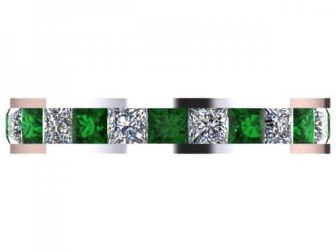 Emerald Eternity Band Dallas 4 1, Shira Diamonds