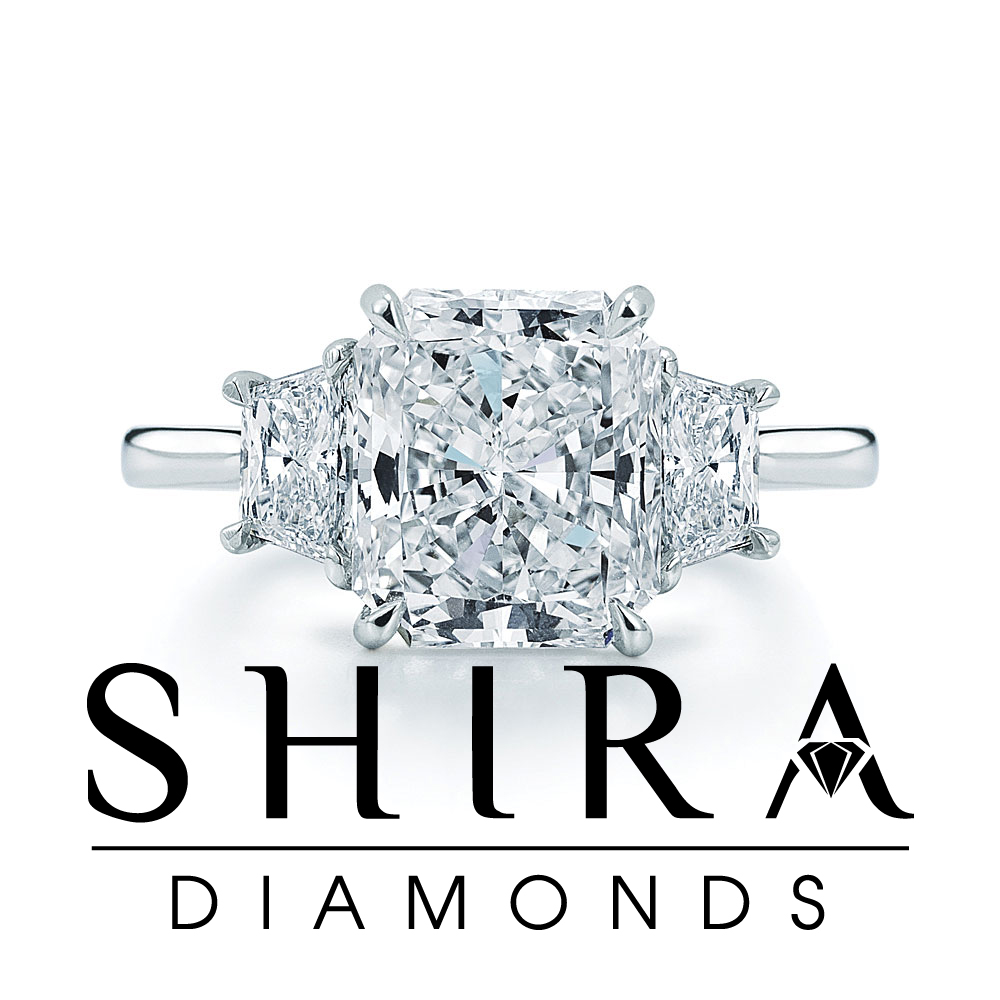 radiant cut diamonds in Dallas Texas - Radiant Engagement Rings - Shira Diamonds