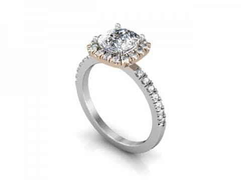 rose gold halo diamond ring dallas 1 (2)