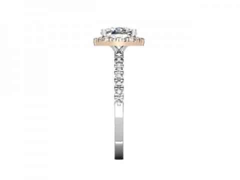 rose gold halo diamond ring dallas 2 (1)