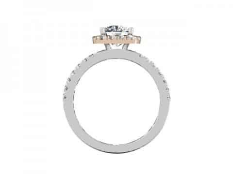 rose gold halo diamond ring dallas 3 (1)