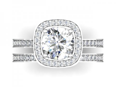 round halo diamond rings dallas 4