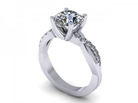 Twisted Engagement Rings Dallas 1 1, Shira Diamonds