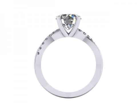 Twisted Engagement Rings Dallas 2 1, Shira Diamonds