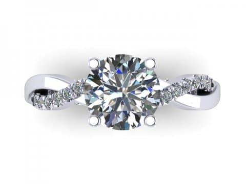 Twisted Engagement Rings Dallas 3 1, Shira Diamonds