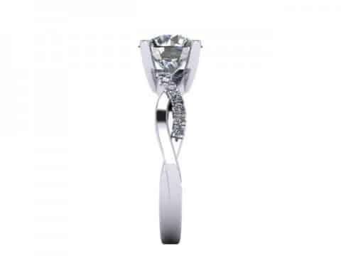 Twisted Engagement Rings Dallas 4 1, Shira Diamonds
