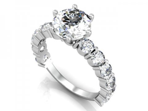 wholesale round engagement rings dallas 1