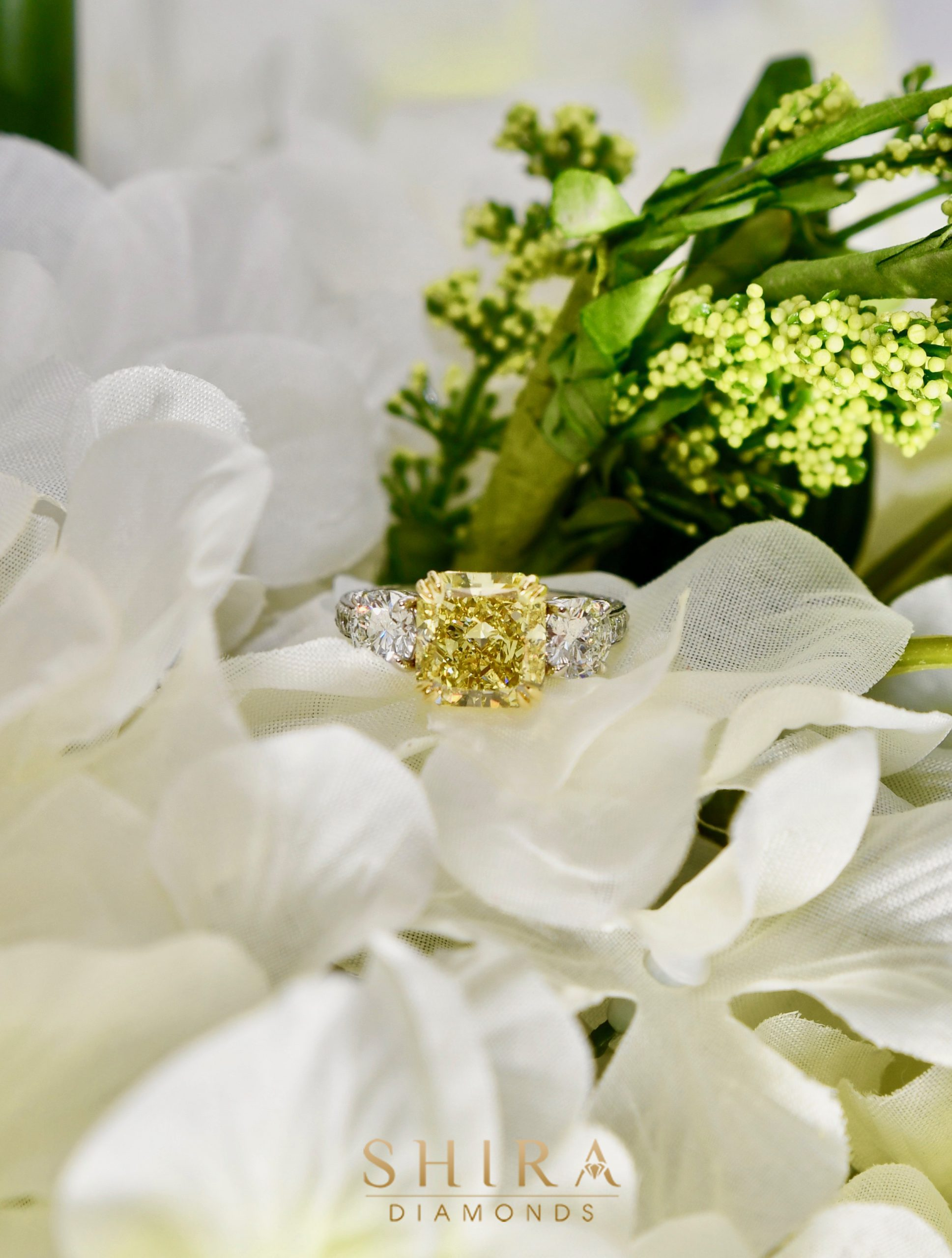 Fancy Yellow Diamond Engagement Rings in Dallas Texas