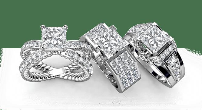 Princess Diamond Rings Dallas, Shira Diamonds