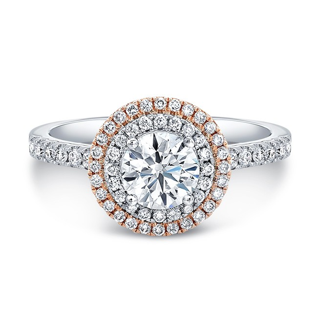 Rose Gold Diamond Engagement Rings in Frisco Texas