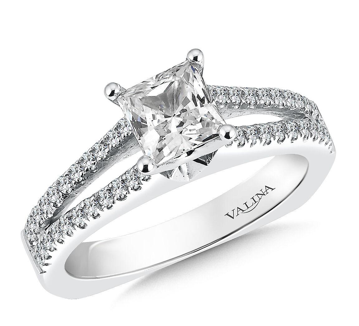 Wedding Band Sets Princess Cut Diamond - Engagement Rings Dallas 1