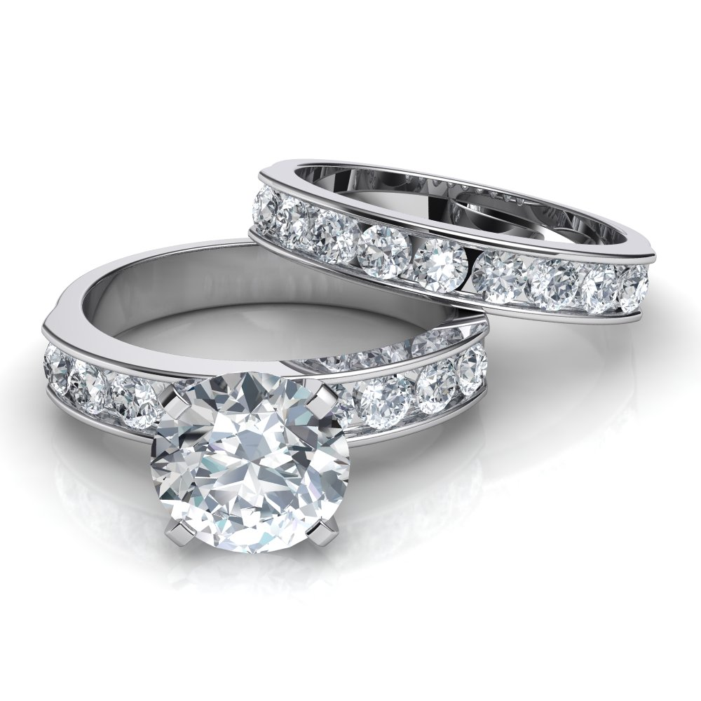 channel set diamond rings dallas