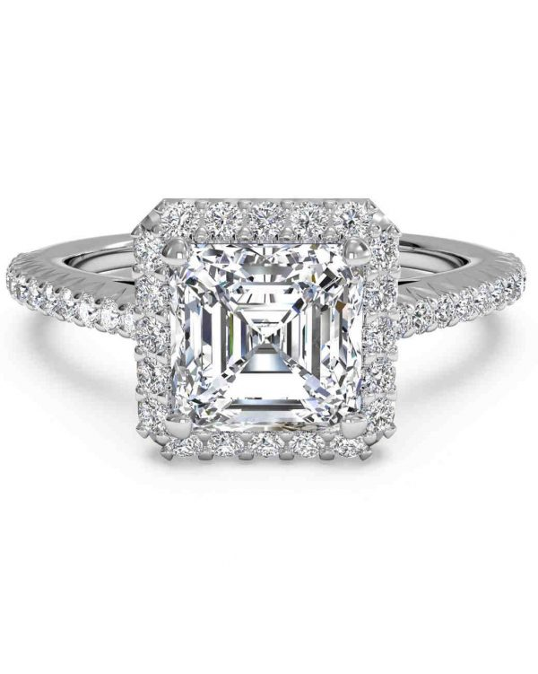 custom asscher diamond engagement rings in dallas texas