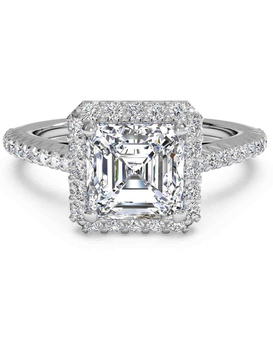 custom asscher diamond engagement rings in dallas texas