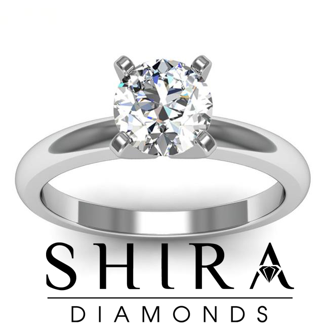 round solitaire diamond engagement ring 1