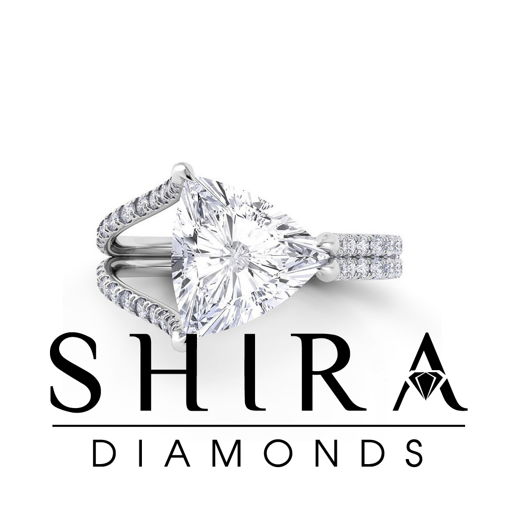 trillion diamond engagement ring - trillion diamonds - shira diamonds