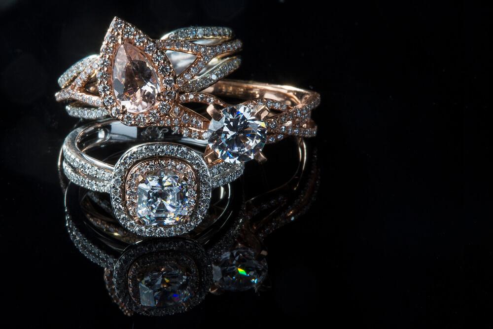 Unique Modern Wedding Rings, Shira Diamonds