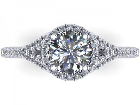 Custom Round Diamond Rings Arlington 4 6368346e3584a4f329b958b29913d226, Shira Diamonds