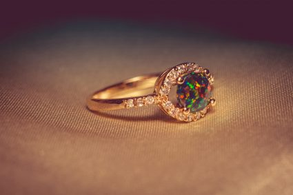 Gold Ring with Opal Stone