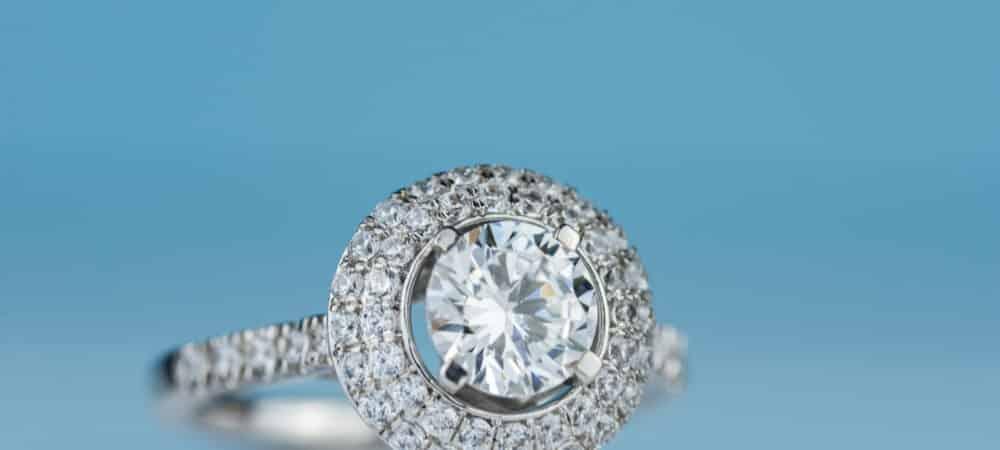 diamond halo engagement ring - Shira Diamonds